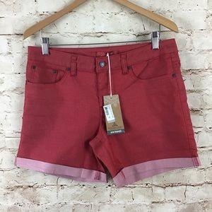 Pants - PrAna Womens Red Kara Jean Shorts Size 10 30